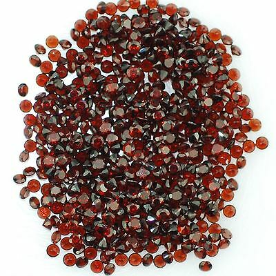 10 PIECES OF 2mm ROUND-FACET DEEP-RED NATURAL MOZAMBIQUE GARNET GEMSTONES £1 NR!