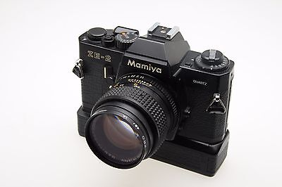 Mamiya ZE-2 with Automatic Winder and 50mm f1.4 lens! Great Bundle!