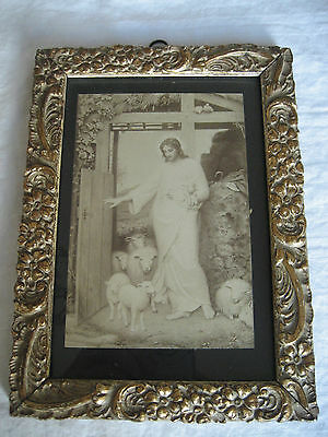 Antique Religious Print In Frame  ( The Berlin Photographic Co.)