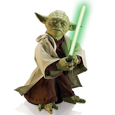 Star Wars Yoda Legendary Jedi Master w/ Lightsaber Interactive Voice Recognition