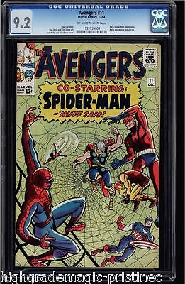 Avengers #11 Cgc 9.2 Oww Early Spider-Man Appearance #1133155003