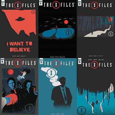 The X-Files #1 2 3 4 5 6 Retailer Incentive Variant Comic Book Set IDW (2016)