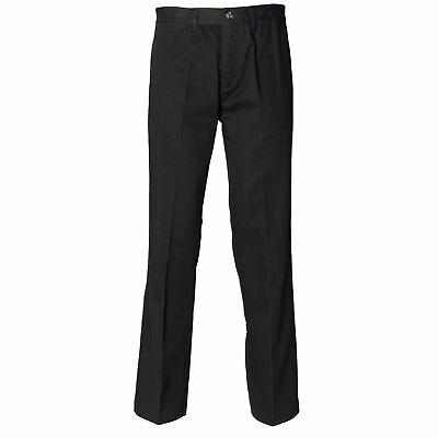 Henbury-Business & Formal Trousers-Teflon® coated flat front chino--