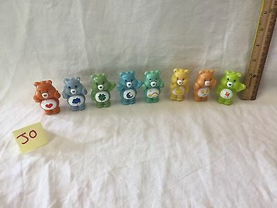 Lot Of 8 Care Bears Plastic Figures Vintage 2003 Play Along Toys cake topper