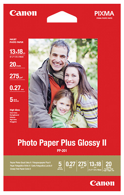 Canon PP-201 13x18 cm 20 Sheets Photo Paper Plus Glossy II 265 g NEW