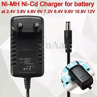 Ni-MH Ni-Cd Battery Charger Auto for 2.4V 3.6V 4.8V 6V 7.2V 8.4V 9.6V 10.8V 12V