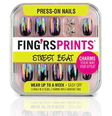 Fing'rs Prints Street Beat Press-On Nails, HAUTE MESS 31043