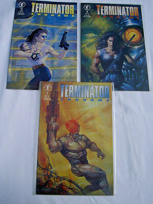 "TERMINATOR ""END GAME"" COMPLETE 3 ISSUE MINI SERIES by ROBINSON & GUICE. DH. 1992"