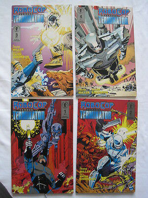 ROBOCOP vs TERMINATOR : COMPLETE 4 ISSUE MINI SERIES by MILLER & SIMONSON.1992
