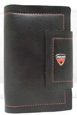 AGENDA Organizer Ducati Corse Leather Look Organiser 2017 Diary Bike MotoGP NEW!