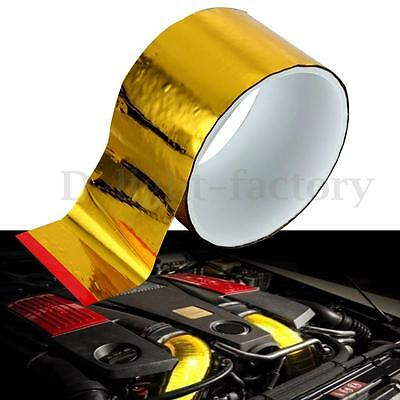 "2""x2.4M Gold High Temperature Heat Shield Wrap Tape Reflective Self Adhesive"