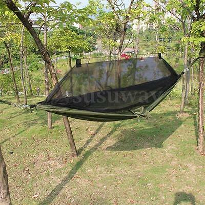 Outdoor Travel Jungle Camping Hammock Garden Hanging Nylon Bed&Mosquito Net Set