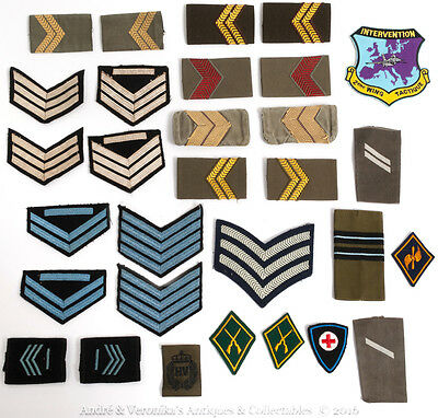Military Epaulettes Embroidered Intervention 2nd Wing French Air Force + Stripes