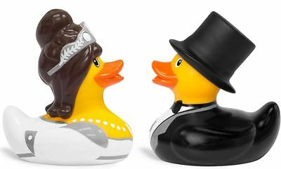 Bud Collectible Rubber Duck - Mini Luxury Bride and Groom Duck