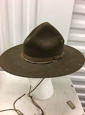 Vintage Early STETSON Official Boy Scout Campaign Hat, BSA Size 7/8 1930s? 1940s
