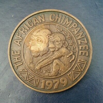 The African Chimpanzee Copper Medal 1916-79 L@@k!!