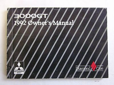 1992 MITSUBISHI 3000GT Turbo - Non turbo Owner's Manual 3000 GT use maintenance