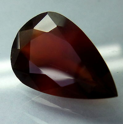12x8mm PEAR-FACET PURPLE/RED NATURAL ALMANDITE GARNET GEMSTONE