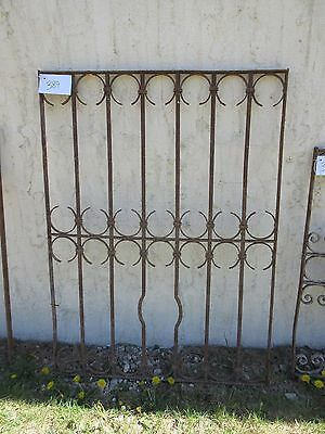 Antique Victorian Iron Gate Window Garden Fence Architectural Salvage Door #389