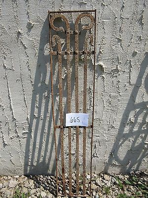 Antique Victorian Iron Gate Window Garden Fence Architectural Salvage Door #665