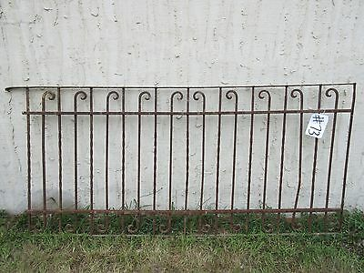Antique Victorian Iron Gate Window Garden Fence Architectural Salvage Door #73