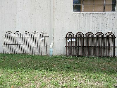 26 Foot Antique Hair Pin Iron Fence Fencing Architechural Salvage 4 Sections  E