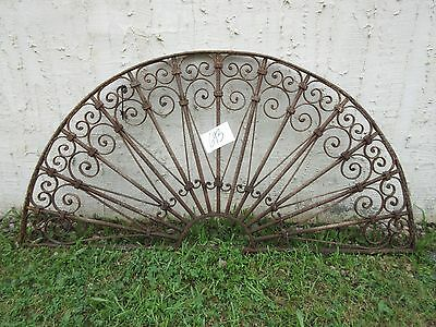Antique Victorian Iron Gate Window Garden Fence Architectural Salvage Door #693
