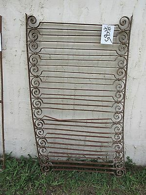 Antique Victorian Iron Gate Window Garden Fence Architectural Salvage Door #85
