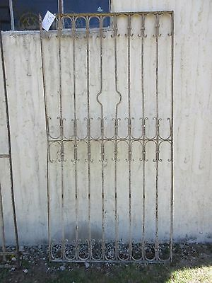 Antique Victorian Iron Gate Window Garden Fence Architectural Salvage Door #370