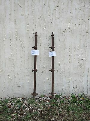 Pair Antique Hair Pin Iron Gate Fence Post Fencing Architechural Salvage A