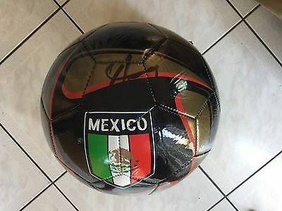Javier Chicharito Hernandez Signed Team Mexico Soccer Ball Autographed PROOF a