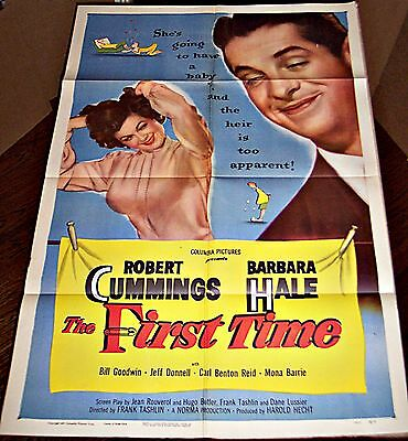 The First Time (1952) Sexy Barbara Hale * Orig 27X41 1-Sheet Poster
