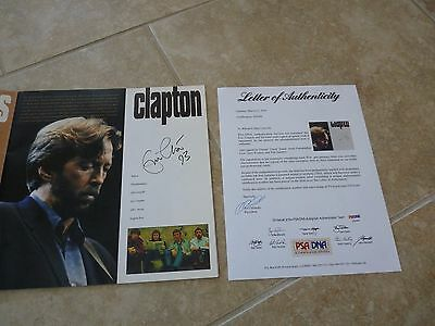 ERIC CLAPTON +4 Signed Blues Tour PROGRAM W/ PSA COA