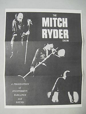 The Mitch Rider Show Flyer 1968 Blues Singer Premier Talent Associates Letter