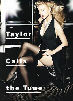 "TAYLOR SWIFT in thigh high stockings - 11"" x 8"" MAGAZINE PINUP - POSTER"