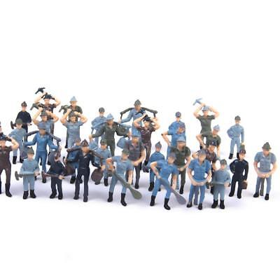 50 Painted Mixed Model Worker People Figures Train Railway Layout 1:42 Scale