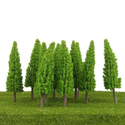 10Pcs Light Green Train Model Metasequoia Trees Scenery Layout O Scale 1/50