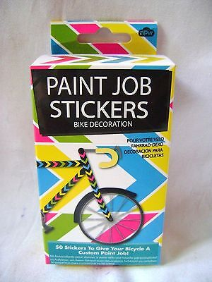 New 40 Bicycle Paint-Job Chevron Stickers Bike Decorations Bright Colours Npw