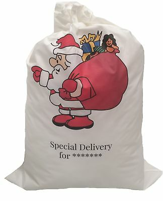 Santa Sacks Personalised Add Name + Message 50 x 75 cm Cotton Pick your design