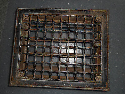 Vintage Floor Wall Heat Register Metal Vent Antique Grate Louvers 9-3/4 x 11-3/4
