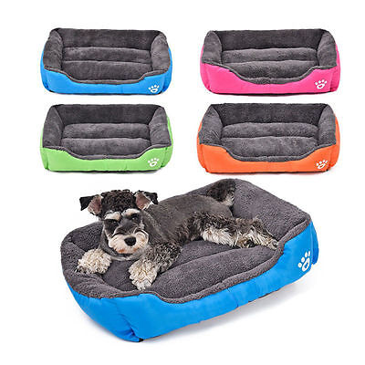 Plush Pet Dog Cat Puppy Bed Basket Washable Candy Colord Soft Warm Sofa Cushion