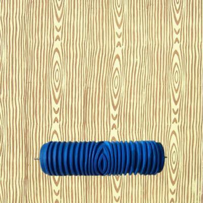 """7"""" Embossing Wood Texture Painting Roller Sleeve Brush Wall Decor Tool DIY"""