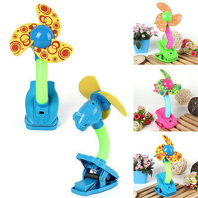 Mini Safety Fan Clip-on Strollers Desk Pram Summer Buggy Cots Bed Baby Pushchair