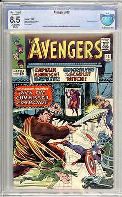 Avengers # 18  When the Commissar Commands !  CBCS 8.5 scarce book !