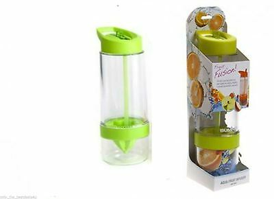 650ML Fruit Infusion Infuser Lemon Juice Water GREEN Bottle Health With Spout