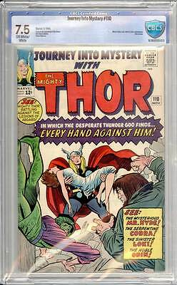 Journey into Mystery # 110  Every Hand Against Him !  CBCS 7.5 scarce book !