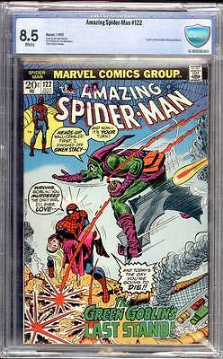Amazing Spider-Man # 122 The Goblin's Last Stand !   CBCS 8.5  scarce book !