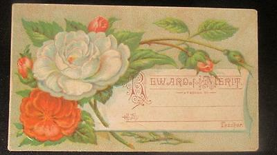 Reward of Merit Card Vintage Sample #8 Fine Art Pub Co Warren Pa