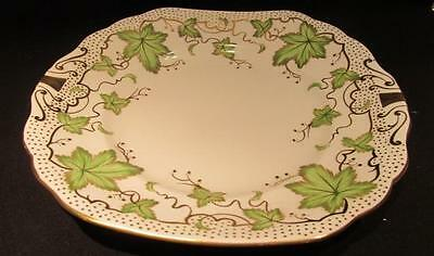Royal Chelsea Vintage Round Serving Plate Green Ivy Leaves & Gold Dots 426a