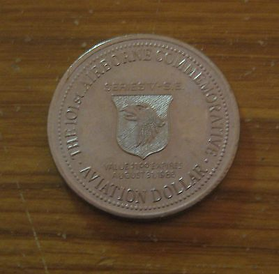 VINTAGE 101st AIRBORNE ARMY MILITARY COMMEMORATIVE AVATION DOLLAR COIN